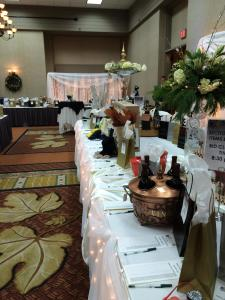 Silent Auction Tables